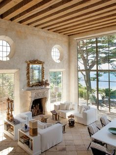 gorgeous beach house living room