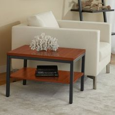 Jesper Parson End Table with Shelf - When any other end table just won't do, the Jesper Parson End Table with Shelf will definitely do. Extra-long for deep chairs and sofas,...