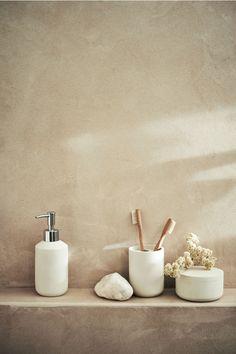 Faux Stone Soap Dispenser - Cream - Home All Modern Bathroom Design, Bathroom Interior, Bathroom Sets, Small Bathroom, Serene Bathroom, Bathroom Layout, Master Bathroom, Simple Interior, Interior Design