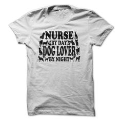 View images & photos of Nurse By Day Dog Lover By Night t-shirts & hoodies
