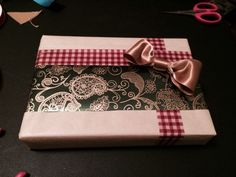 My wrapping #giftwrap #funtimes #diy #ribbon #christmas