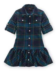 Plaid Ruffled Cotton Dress - Girls 2-6X Dresses & Skirts - RalphLauren.com