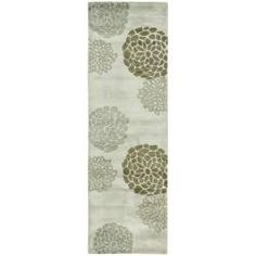 @Overstock - A modern design and dense, thick pile New Zealand wool highlight this handmade rug. This floor rug has a light grey background and displays stunning panel colors of brown, beige and grey.http://www.overstock.com/Home-Garden/Handmade-Soho-Botanical-Light-Grey-N.-Z.-Wool-Runner-26-x-14/5628467/product.html?CID=214117 $154.99