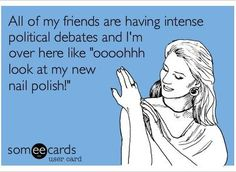 How I felt during the entire presidential election campaigns last year.