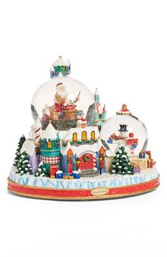 Christopher Radko 'North Pole Workshop Spectacular' Snowglobe One Size Christmas Snow Globes, Christmas Ornaments, Christopher Radko Ornaments, Water Globes, Silent Night, North Pole, Winter Snow, Glass Ornaments, Workshop