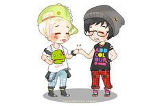 Chibi Drarry - Hipsters by Cremebunny on DeviantArt