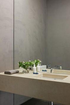 cemento y espejo - Malvern House / Canny Design Mt Design, House Design, Design Ideas, Bathroom Spa, Bathroom Interior, Bathroom Ideas, Malvern House, Minimal Bathroom, Bathroom Renovations