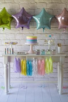 Dessert Table from a Rainbow Unicorn Birthday Party via Kara's Party Ideas KarasPartyIdeas.com (21)