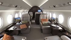 The cabin features a space of more than 1,000 cubic feet. Image courtesy of Dassault Aviation. - Image - Aerospace Technology