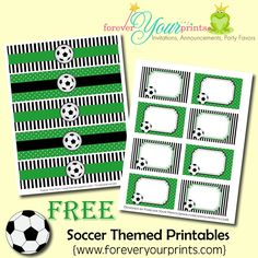 Free SOCCER Printables by Forever Your Prints