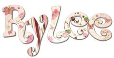 Rylee Butterflies Hand Painted Wall Letters