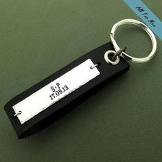 Personalized Mens Gift / Custom Leather Keychain for Men