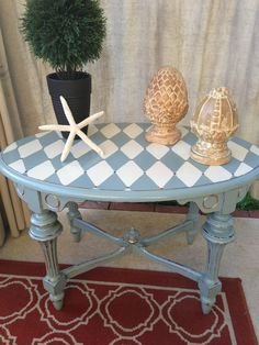 harlequin painted furniture   Antique Victorian Petite Coffee Table Transformed
