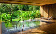 Indoor/outdoor pool.
