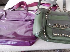 Purses Purple and Green Two New Good Usable  #KennethCole #ShoulderBag