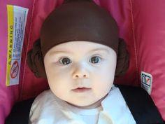 Halloween Costume - baby Princess Leia