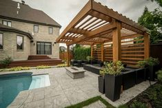 Bring your own patio to life with a strong, powerful and beautiful pergola. Aluminum Pergolas is really a new modern product in Canada. Metal Pergola is maintenance Free. Adjustable Roof will save you from rain and sun in seconds. Diy Pergola, Building A Pergola, Small Pergola, Pergola Canopy, Pergola Swing, Cheap Pergola, Outdoor Pergola, Backyard Pergola, Backyard Landscaping