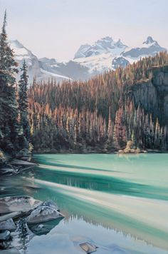 """Limnic"". Oil on Birch. 2014. 24""x36"". Collin Elder. www.collinelder.com"