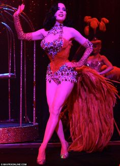 a86ff87362a3 Glamour girl  Dita Von Teese performed her show