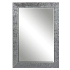 Tarek Silver 41.88 Inch Mirror Uttermost Rectangle Mirrors Home Decor