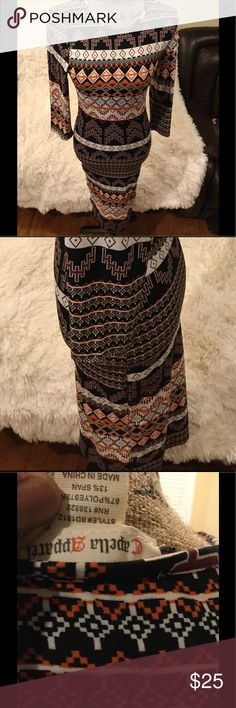Women's Printed Bodycon Dress NWOT SIZE: L Casual dress new Capella Dresses Midi