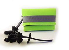 Purse tassel charm handmade handbag green green fabric