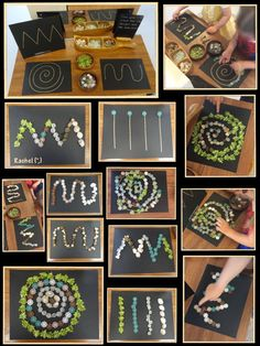"Nature Play Continues - Stimulating Learning - Fine Motor - Line designs on the Finger Gym from Rachel ("",) - Reggio Classroom, Outdoor Classroom, Reggio Emilia, Nature Activities, Preschool Activities, Diy Pour Enfants, Finger Gym, Funky Fingers, Nature Drawing"