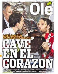 Cave en el corazón, River Plate Campeón Copa Libertadores 2015