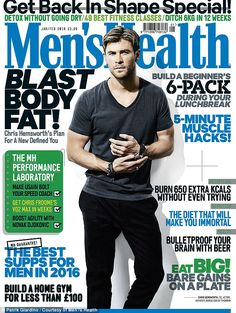 Read all about it: The full interview and Hemsworth's exclusive workouts are available in the Jan/Feb issue of Men's Health, on sale Friday 4th December