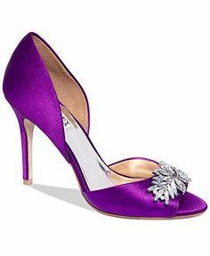 Badgley Mischka Shoes, Nikki Mid Heel Evening Pumps - Shop All Designer Shoes - Shoes - Macys