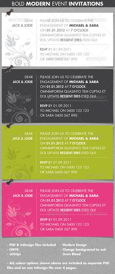 Wedding Invitation Template  Weddings Cards  Invites Download