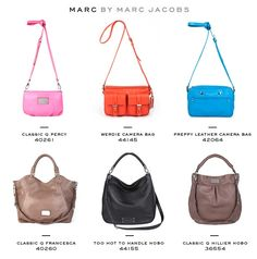 Marc by Marc Jacobs purses! I just got the pink one for my bday except mine is black. I can't even explain my obsession