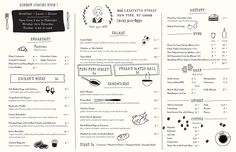 They used to have a menu similar to this, but not as clean. Love!