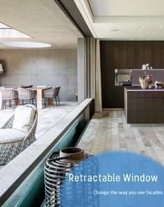 Sink an entire wall of glass into the floor with a HIRT Swiss Descending Window from IQ Glass. This amazing glass product offers the ultimate 'wow' factor for any type of building from residential to public. Sliding Windows, Sliding Doors, Indoor Outdoor Living, Floor Finishes, Glass Panels, Modern Architecture, Building A House, Flooring, Aperture