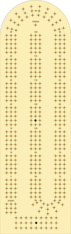Trust image with printable cribbage board templates
