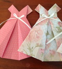 Pretty origami dress bunting