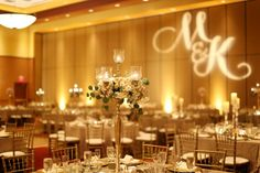 Gold Chiavaris, GOBO and gold chandeliers Gold Chandelier, Chandeliers, Tablescapes, Candles, Table Decorations, Chairs, Scene, Events, Furniture