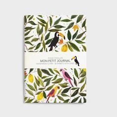 Notebook journal diary exotic pattern floral von SoniaCavallini
