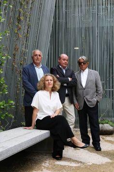 Los creadores del Laboratorio de la Nueva Educación Antonio Rodríguez (iz), Carlos Wert, Jerónimo Junquera y María Acaso.