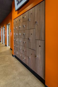 Hollman: Custom Lockers and The World's Finest Locker Rooms Locker Designs, Orange Theory Workout, Waiting Rooms, Fitness Studio, Dance Studio, Storage Solutions, Lockers, Locker Storage, Outdoor Decor