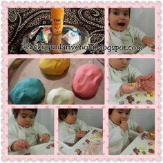 Bebek oyunları ve hobi: Saç kremi ve mısır nişastasından oyun hamuru yapım...