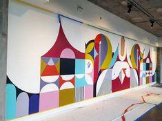"699 Likes, 11 Comments - Jessie Unterhalter/Katey Truhn (@jessieandkatey) on Instagram: ""#wip day 1 #wharftdc #thechannel #shapingup #mural"""