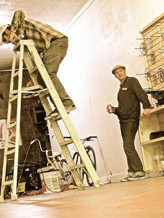 BMboys hard at work for grand opening of #BrassMonkeyBikeShop. #best #bikeshop in #Phx!