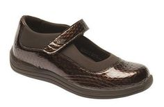 Drew Women'S Rose Casual Mary Jane Leather Comfort Shoes Brown Print