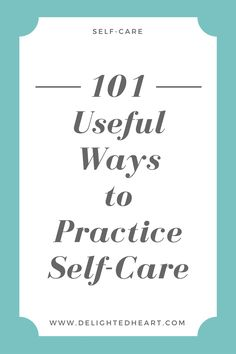 Self-care is extremely important for your well-being. I like to think of myself as some sort of self-care enthusiast since I am obsessed with helping people find a self-care practice that works for them. What is relaxing for one person just might not be the same for another, and that's the reality of it! I have compiled a list of 101 waysthat you can practice self-care in hopes of helping you find a self-care practice that works for YOU! Not[Read more]