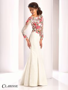 931c01baa27 Clarisse Couture Prom and Pageant Dress 4811. Two-piece lace dress with long  sleeve