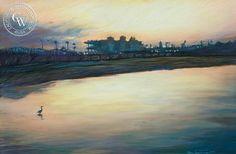 Del Mar Dawn, art by Ken Goldman – California Watercolor