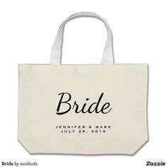 "I like this tote to carry my ""stuff"" on my wedding day. Large Wedding Bag for Bride-Canvas Tote Bag Best Tote Bags, Wedding Bag, Large Tote, Canvas Tote Bags, Bridesmaid Gifts, Great Gifts, Reusable Tote Bags, Accessories, Wedding Remembrance"