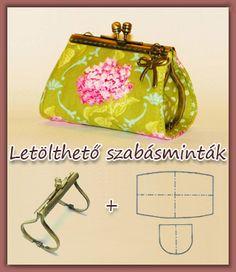 many patterns/tutorials for different purses- - - (Vigyázz! Kész! Varrj!: Szabásminták tárca/táska keretekhez)