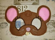 Cute mouse mask ITH Project In the Hoop Embroidery Design Costume, Cosplay, Fancy dress, Masquerade, Photo booth, Prop. by TheHoopBooteek on Etsy